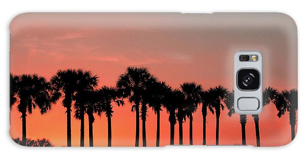 Galaxy Case featuring the photograph Palm Tree Sunset by Joel Witmeyer