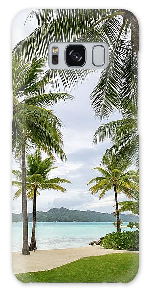 Palm Trees 1 Galaxy Case by Sharon Jones