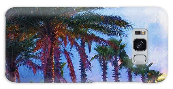 Palm Trees 3 Galaxy Case