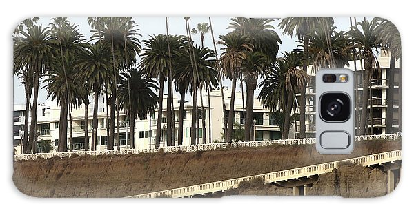 Palm Trees And Apartments Galaxy Case