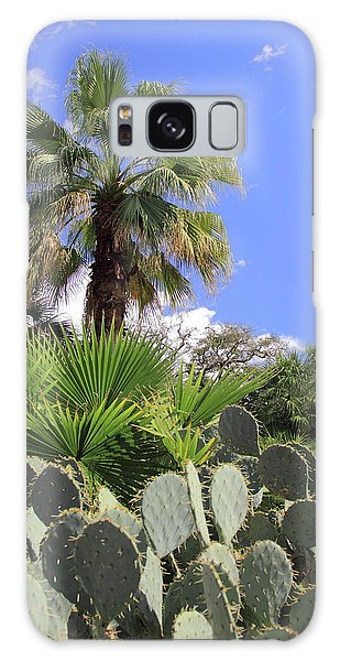 Palm Trees And Cactus Galaxy Case