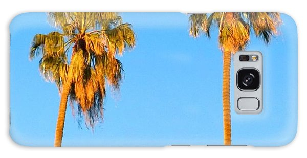 Summer Galaxy Case - #palm #trees At Sunset. #california by Shari Warren