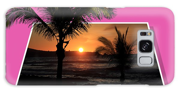 Palm Trees At Sunset Galaxy Case