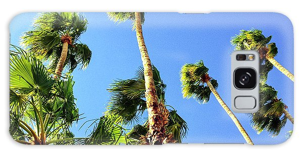 Palm Trees Looking Up Galaxy Case