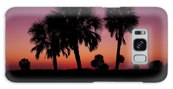 Galaxy Case featuring the photograph Palm Trees Silhouette by Joel Witmeyer
