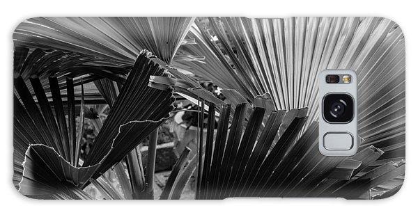 Palmetto In Black And White Galaxy Case