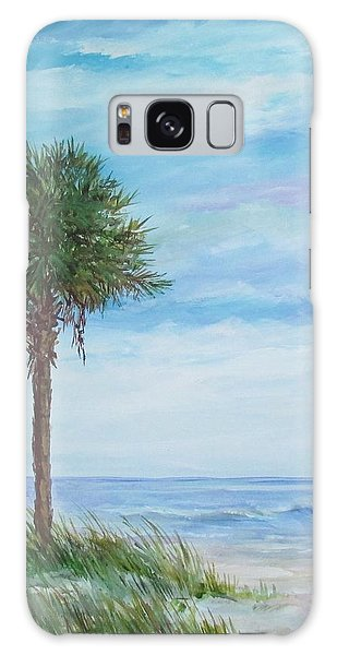 Sold  Palmetto On The Beach Galaxy Case by Gloria Turner