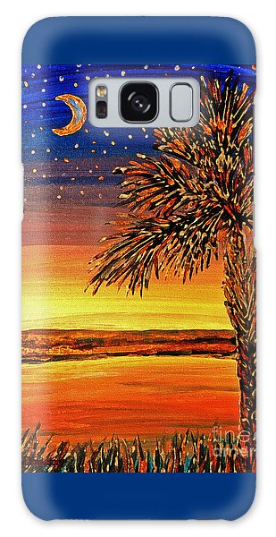 Palmetto Sunset  Galaxy Case