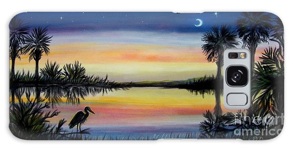 Palmetto Tree And Moon Low Country Sunset Galaxy Case