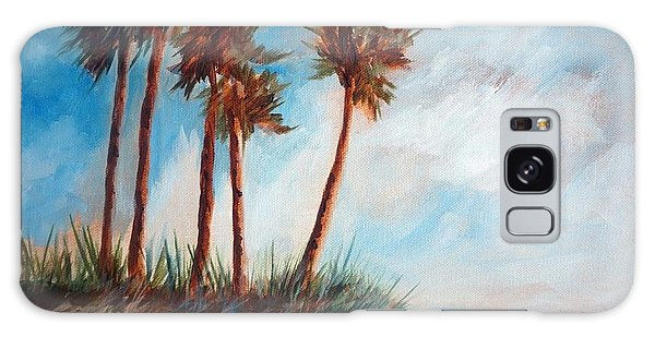 Palmettos On A Beach Galaxy Case by Gloria Turner