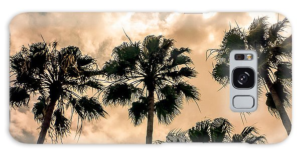Palms Against The Sky Galaxy Case