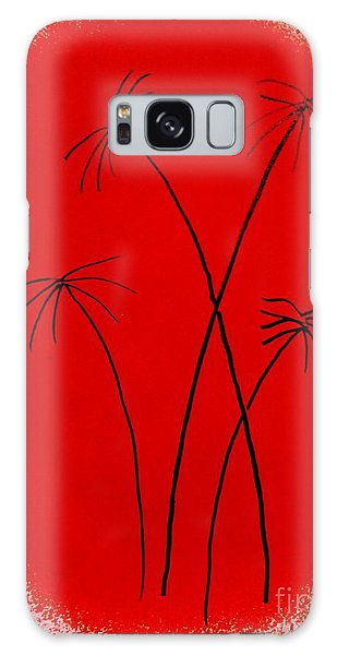 Palms And Sunset Galaxy Case by Roberto Prusso
