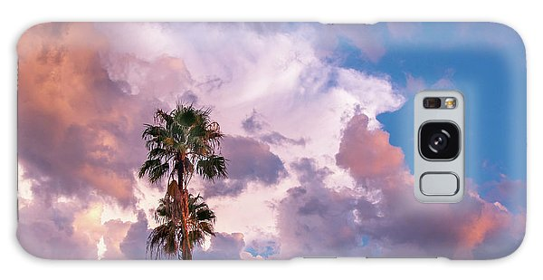 Palms At Sunset Galaxy Case