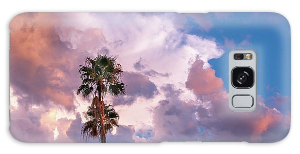 Palms At Sunset Galaxy Case by Carolyn Dalessandro