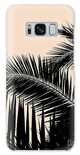 Palms On Pale Pink Galaxy Case