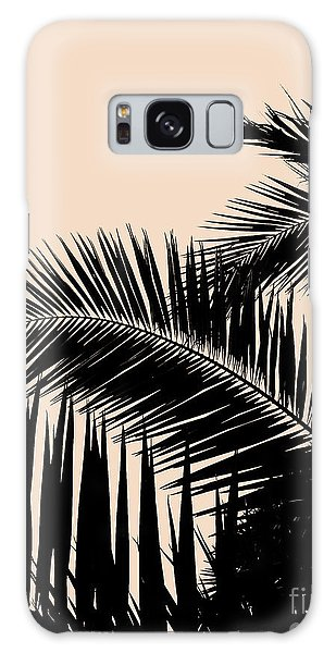 Palms On Pale Pink Galaxy Case