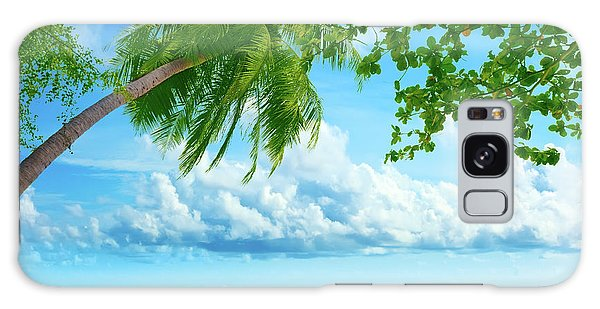 Phi Phi Island Galaxy Case - Palmtree On The Beach by MotHaiBaPhoto Prints