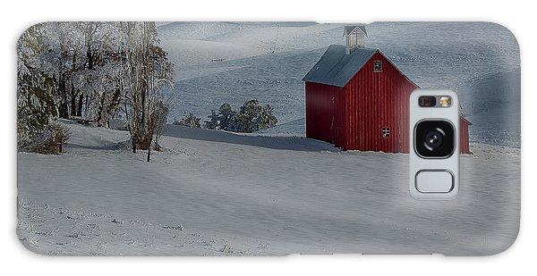 Palouse Saltbox Barn Winter Galaxy Case