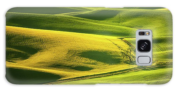 Galaxy Case featuring the photograph Palouse Shades Of Green by Dan Mihai