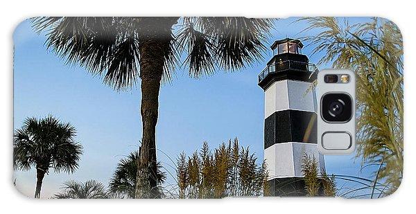 Pampas Grass, Palms And Lighthouse Galaxy Case