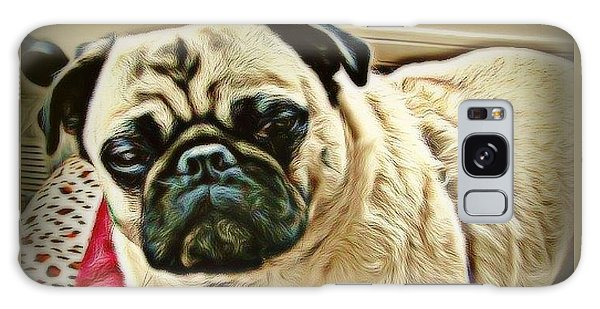Galaxy Case - Pampered Pug by Raven Hannah