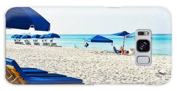 Panama City Beach Florida With Beach Chairs And Umbrellas Galaxy Case