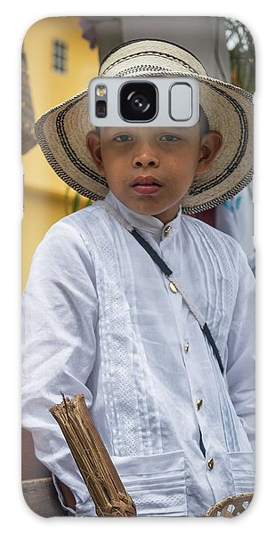 Panamanian Boy On Float In Parade Galaxy Case