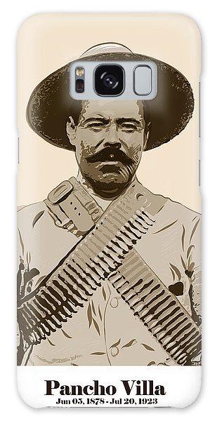 Galaxy Case featuring the digital art Pancho Villa by Antonio Romero