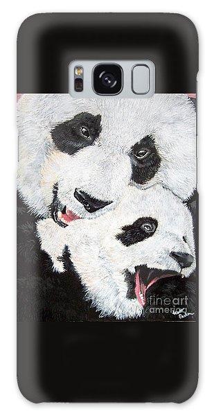 Panda And Baby Galaxy Case