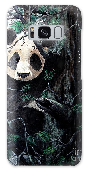 Panda In Tree Galaxy Case by Nick Gustafson