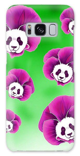 Panda Pansies Galaxy Case