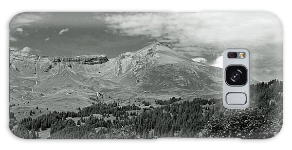 Panorama Alps Switzerland In Black And White Galaxy Case
