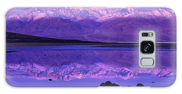 Panorama Badwater And The Panamint Range At Sunrise Death Valley Galaxy Case