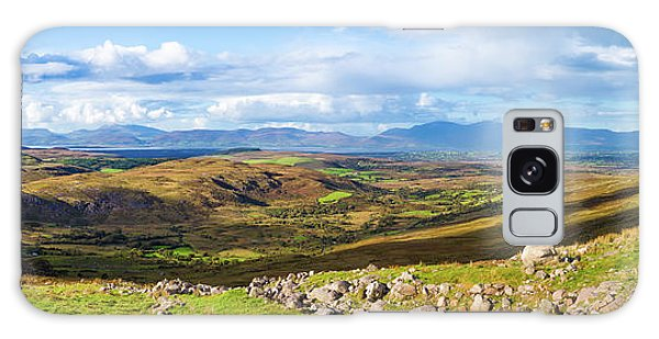 Panorama Of A Colourful Undulating Irish Landscape In Kerry Galaxy Case by Semmick Photo