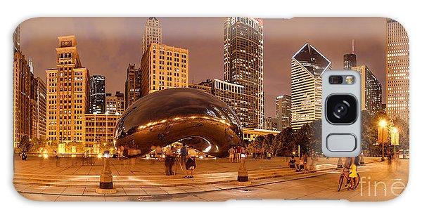 Art Institute Galaxy Case - Panorama Of Anish Kapoor Cloud Gate Aka The Bean At Millenium Park - Chicago Illinois by Silvio Ligutti