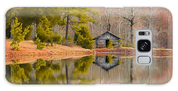 Panorama Of Cabin By The Lake Galaxy Case by Shelby  Young