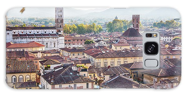 panorama of old town Lucca, Italy Galaxy Case