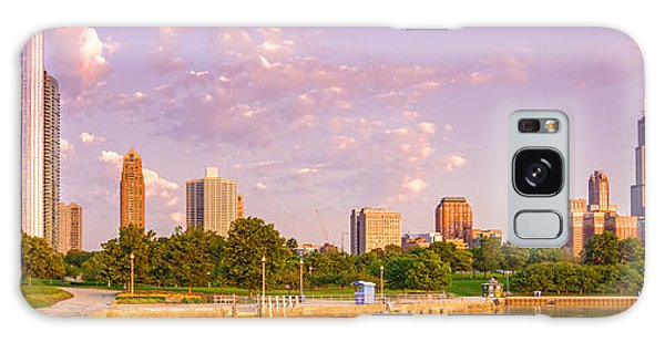 Panorama Of South Side Of Chicago Skyline And One Museum Park From Shedd Aquarium - Chicago Illinois Galaxy Case
