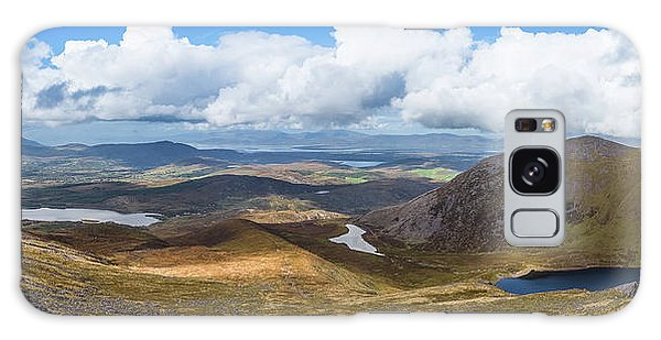 Panorama Of Valleys And Mountains In County Kerry On A Summer Da Galaxy Case by Semmick Photo