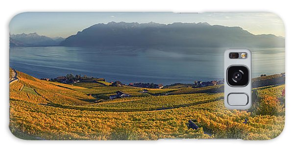 Panorama On Lavaux Region, Vaud, Switzerland Galaxy Case