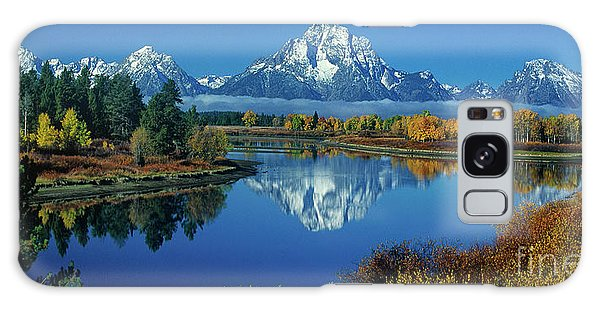 Panorama Oxbow Bend Grand Tetons National Park Wyoming Galaxy Case