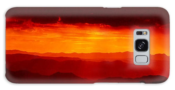 Panorama - Valley Of Fire Sunset 003 Galaxy Case by George Bostian