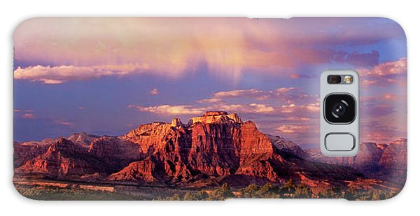 Panorama West Temple At Sunset Zion Natonal Park Galaxy Case