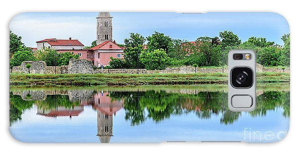 Panoramic Reflections Of Nin, Croatia Galaxy Case