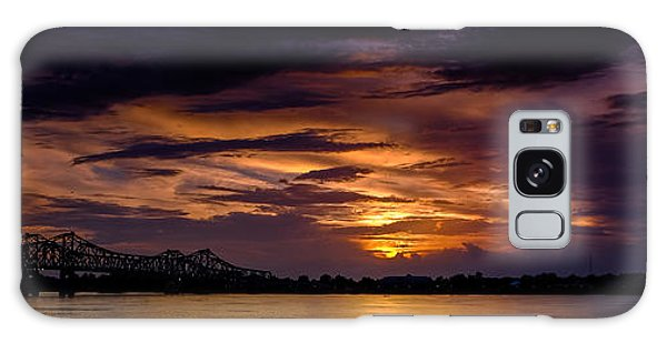 Panoramic Sunset At Natchez Galaxy Case