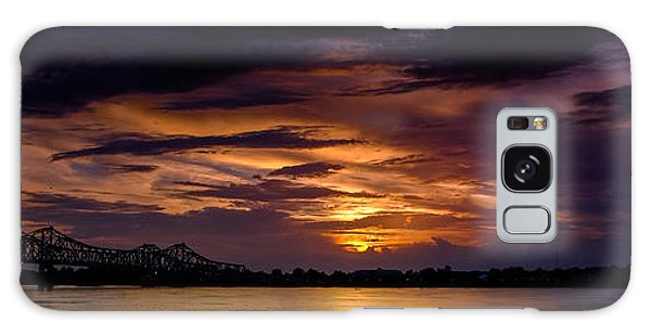 Panoramic Sunset At Natchez Galaxy Case
