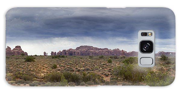 Panoramic View At Arches National Park Galaxy Case