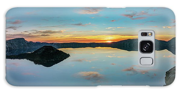 Galaxy Case featuring the photograph Panoramic View Of Crater Lake by Pierre Leclerc Photography