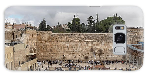 Panoramic View Of The Wailing Wall In The Old City Of Jerusalem Galaxy Case