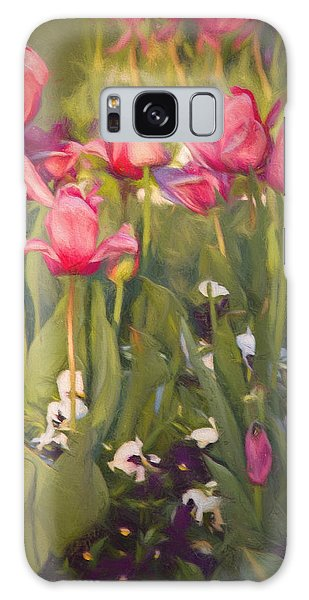 Pansies And Tulips Galaxy Case by Lana Trussell